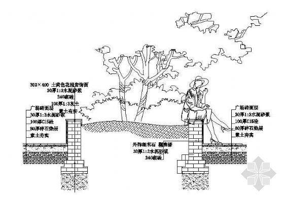 树池剖面施工图