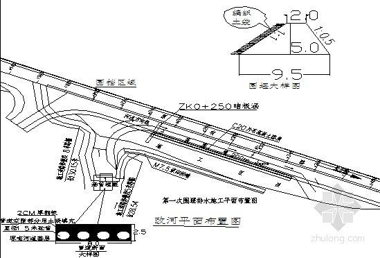[重庆]公路路基加宽改河处理施工方案