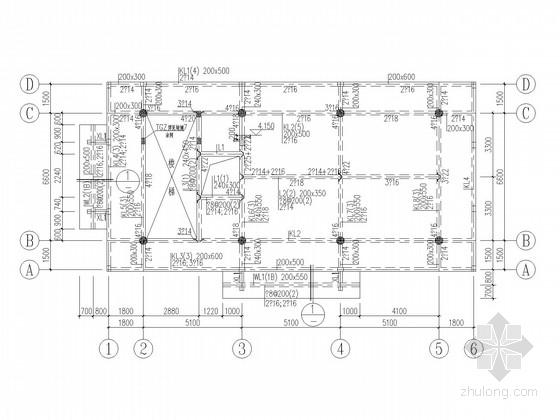三层框架仿古建筑结构施工图
