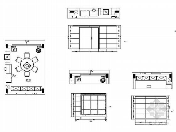 [江西]风景名胜区现代风格三层别墅装修施工图餐厅立面图