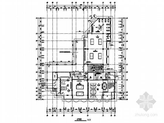 [苏州]二级资质房地产开发有限公司办公室装修施工图(含电图)