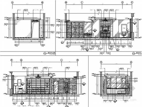 [石家庄]西山高端政务接待一体化山水园林式五星级迎宾馆全套室内设计施工图(含方案、水暖图纸)标间立面图