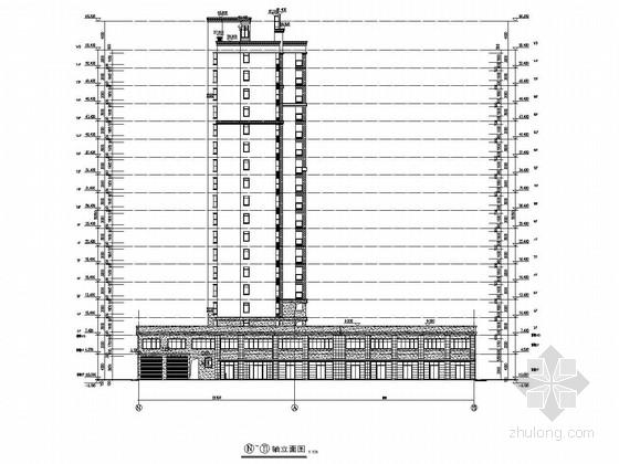 5989平18层框架结构商住楼建筑结构施工图
