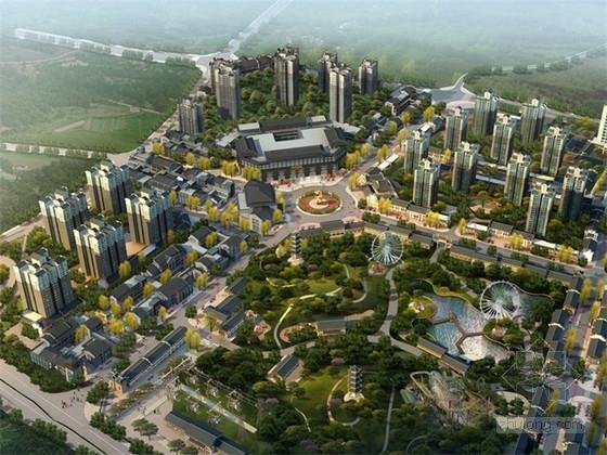 [重庆]新中式风格商业街地块设计方案文本(含CAD)