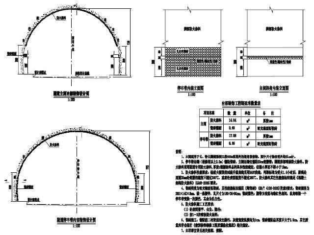 [青海]四车道高速公路新奥法隧道土建及机电工程设计图465张CAD