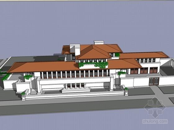 罗宾住宅SketchUp模型下载