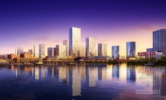 滨江中央商务区概念性规划效果图