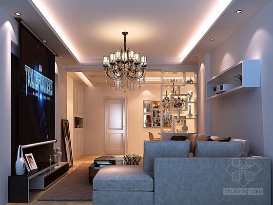 舒适客厅3D模型下载