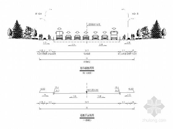 [浙江]红线24m宽城市次干道工程超全施工图349张(道路桥梁软基给排水)