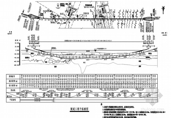 [广东]海底深埋大回淤两孔单管廊沉管隧道管节结构施工图设计259张(知名大院)