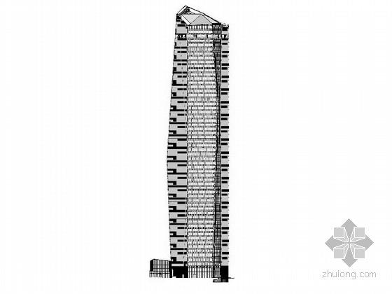 [深圳]超高层核心筒结构塔楼办公大厦建筑施工图(15年258张图纸超详细)