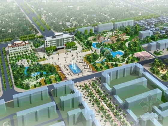 [新疆]纪念性景观城市住宅规划设计方案