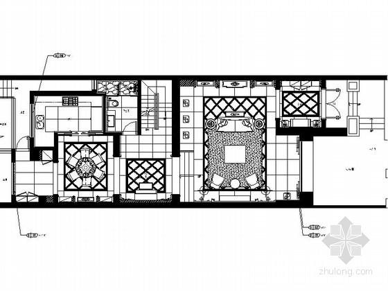 [江苏]超级综合社区简欧三层别墅样板房装修施工图(含效果)