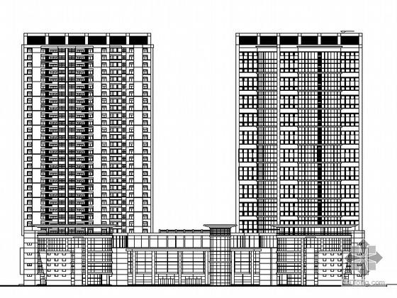 [西安]某三十一层商业综合办公楼(办公、公寓、餐饮、俱乐部、商场)建筑施工图(另含素模及效果图)