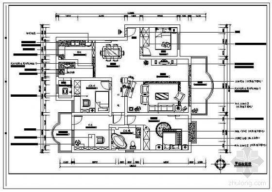 四房两厅简约家装设计图