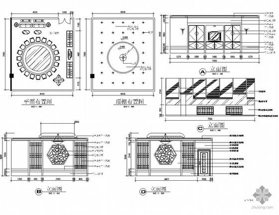 四个中式风格餐包设计图