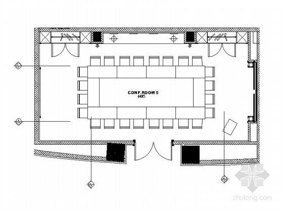 [天津]五星级酒店会议室设计装修图