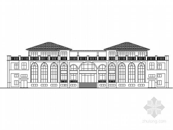 [辽宁]两层红色曲瓦屋面幼儿园建筑施工图(含多套方案)