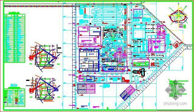 河北某电厂施工组织设计(鲁班奖 平面布置图)