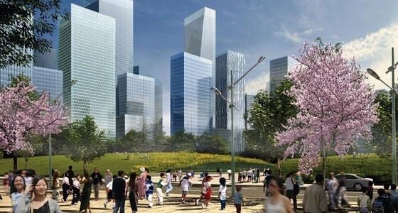 [成都]新城区现代风格概念性总体规划设计方案文本-知名地产区现代风格概念性总体规划效果图