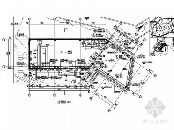 [四川]200平米小型茶室建筑设计施工图纸-200平米小型茶室平面图