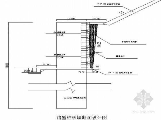 铁路人工挖孔桩及桩板墙边坡支护施工方案(爆破开挖)