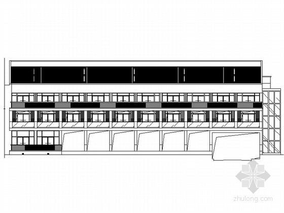 [武当山]玄武湖某国际大酒店三层酒店客房建筑施工图(2#楼)