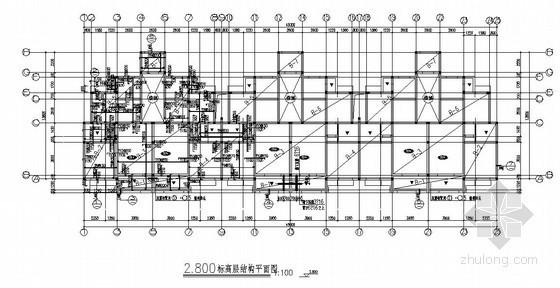 砖混结构多层住宅楼结构施工图(六层 条形基础 2#)
