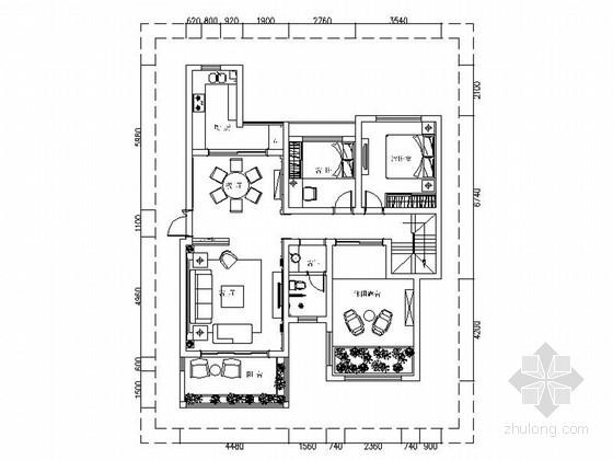 富丽豪华欧式风格两层小别墅室内设计装修施工图(含效果)