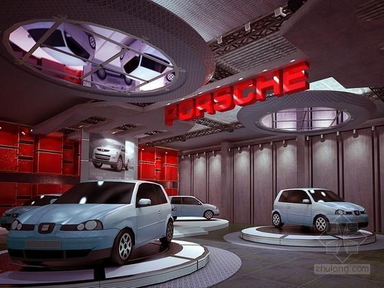 vr展厅3d模型资料下载-汽车展厅3d模型下载