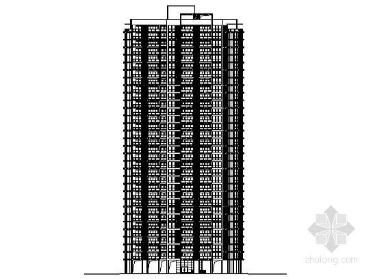 [南充市]某城市核心區高層住宅小區6號樓建筑施工圖(含節能設計)