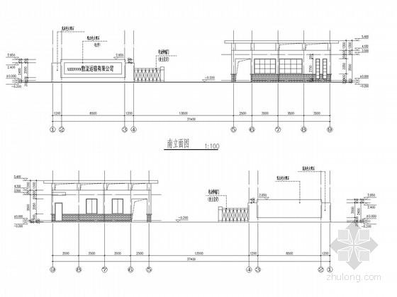 单层框架门卫室结构施工图(含建施)