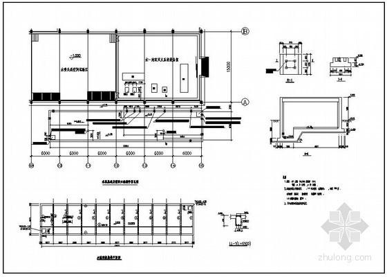 某水泵消防水池结构设计图