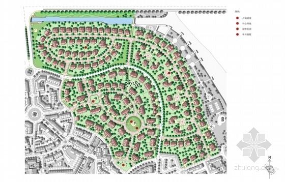 [上海]滨江英式居住区景观方案设计-局部平面图