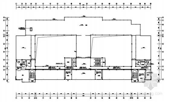 某学校5层办公楼弱电平面图