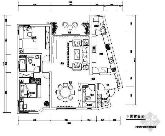 两居室简欧式家装设计图