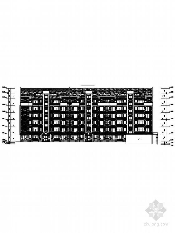 英伦风多层及高层住宅区规划设计立面图