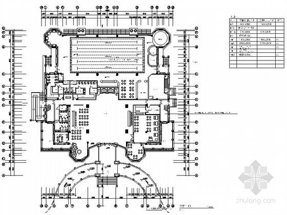 [江苏]精品豪宅社区现代风格售楼部室内装修施工图