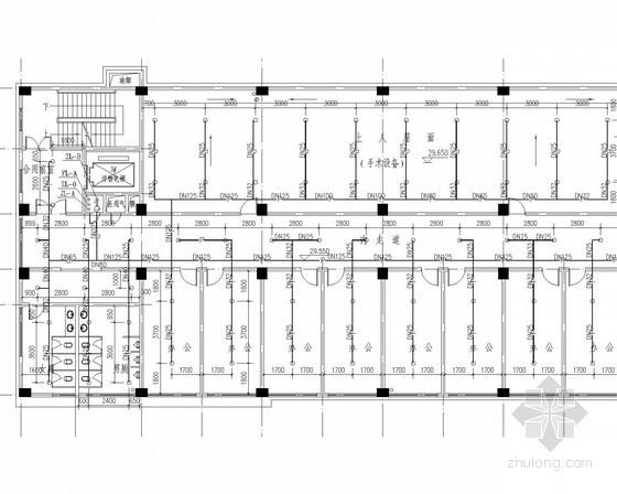 [湖北]县医院门诊住院综合楼给排水消防施工图(水电)