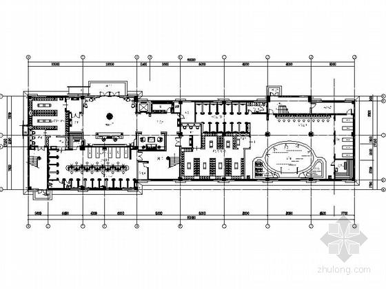 [江苏]气势恢宏旅游休闲花园式酒店附楼室内装修施工图(含效果)