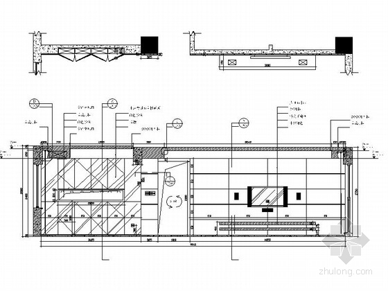 [广州]电梯洋房时尚现代四居室装修施工图客厅立面图