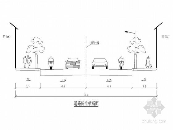[四川]城市支路旧路改造工程道路施工图设计48张