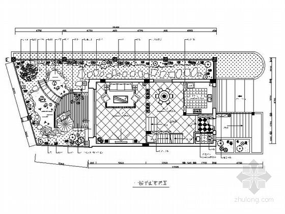 [香港]私人屋苑简欧风情三层别墅样板间装修施工图(含效果)