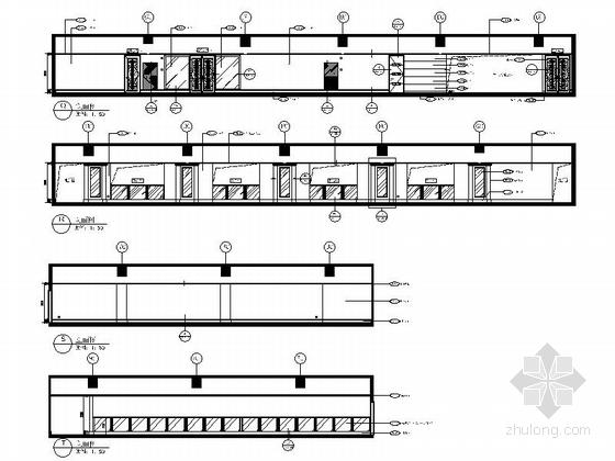 [重庆]豪华低密度住宅区高档休闲会所装修施工图立面图
