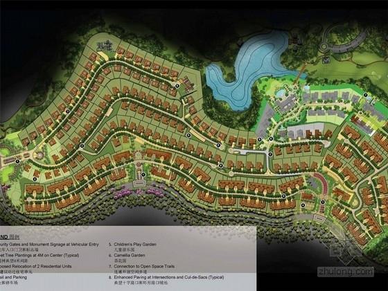 [成都]色彩主题别墅区样板庭院景观规划设计方案展示