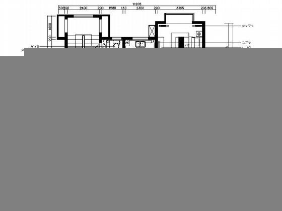 [山东]现代混搭风116平米三居室样板间室内装修施工图(含效果图)