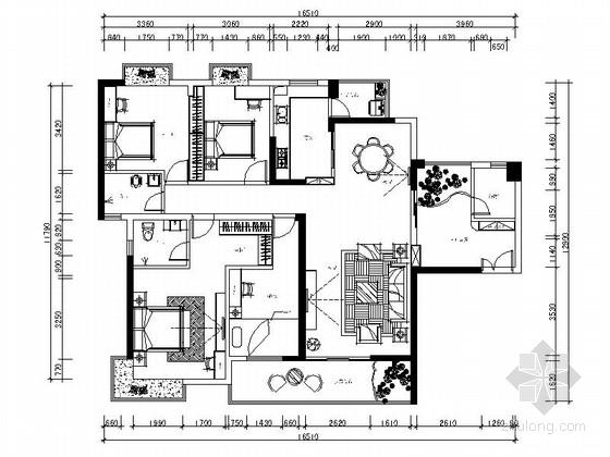 [南通]国际海岸现代风格四居室装修图(含效果)