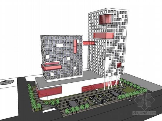 办公酒店SketchUp模型下载