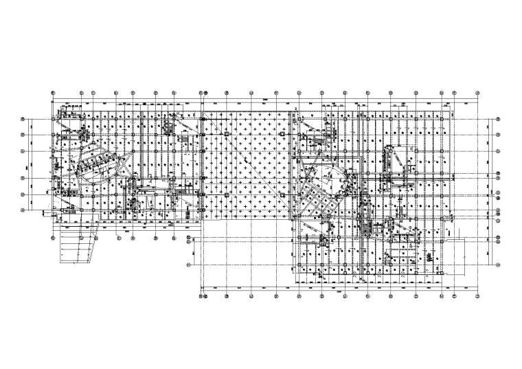 [北京]7层钢混框架裙房结构施工图2014
