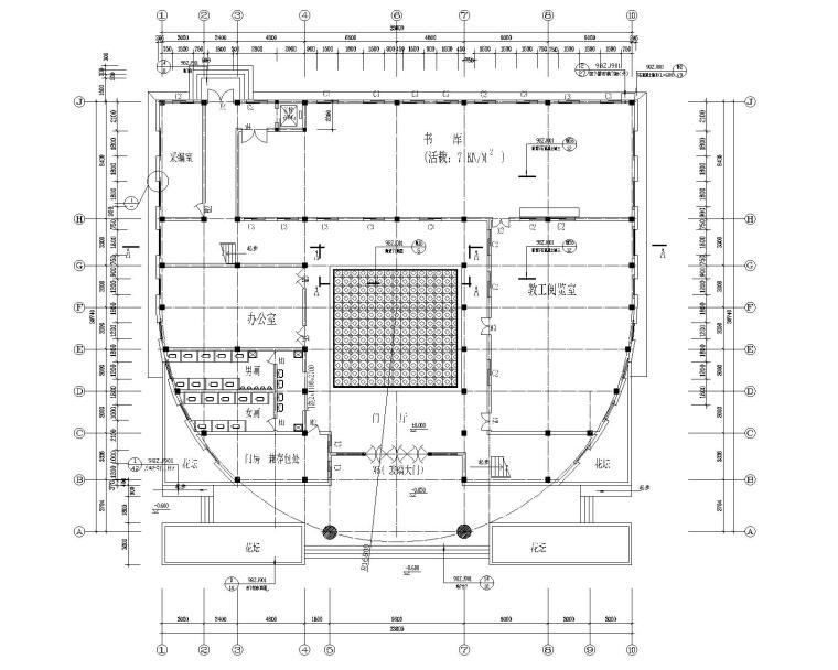 城建图书馆室内装修设计施工图(CAD)